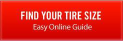 Click here to find your tire size with our easy online guide.