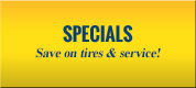 Specials: Save on tires & service!