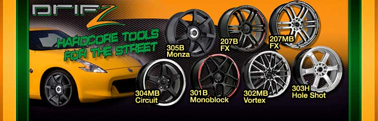 Click here to browse Drifz wheels.