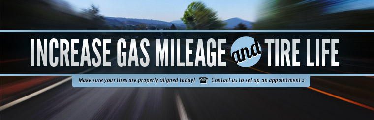 Make sure your tires are properly aligned. Contact us to set up an appointment.