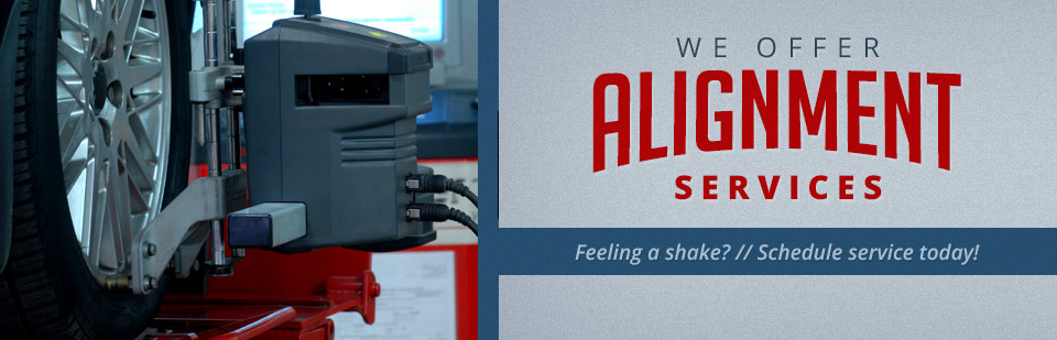 We offer alignment services. Click here for details.