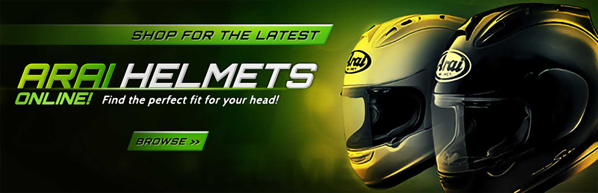 Click here to browse Arai helmets online!