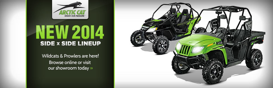 Check out the new 2014 Arctic Cat side x side lineup.
