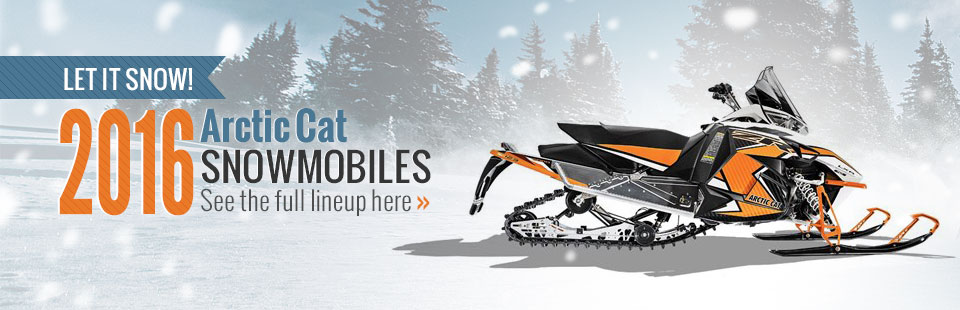 2016 Arctic Cat Snowmobiles: Click here to view the lineup.