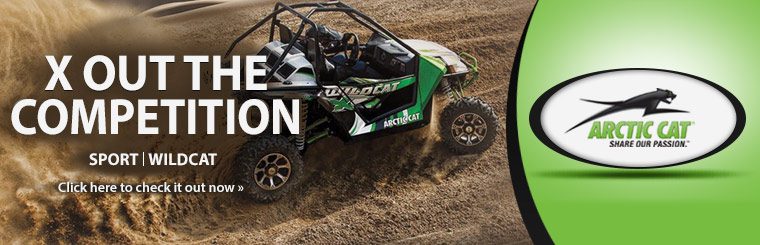 Check out the 2014 Arctic Cat Wildcat.