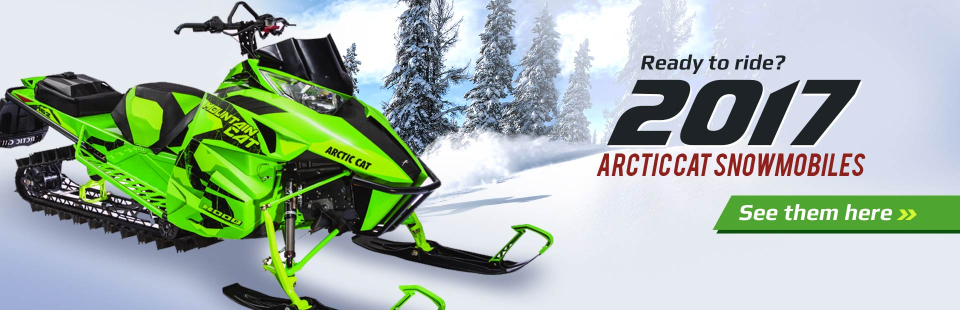 2016 Arctic Cat Snowmobiles: Click here to view the models.