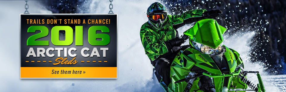 2016 Arctic Cat Sleds: Click here to see the lineup!