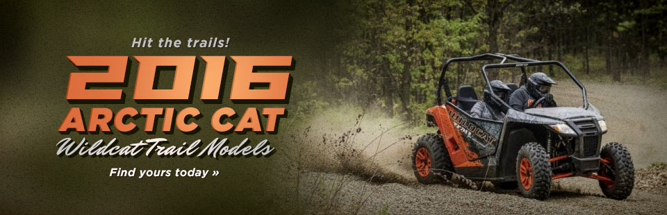 2016 Arctic Cat Wildcat Trail Models: Click here to view the lineup.