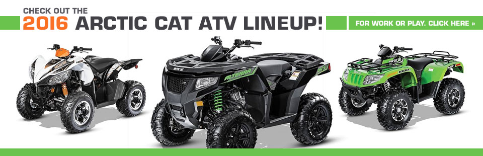 2016 Arctic Cat ATV Lineup: Click here to view the models.