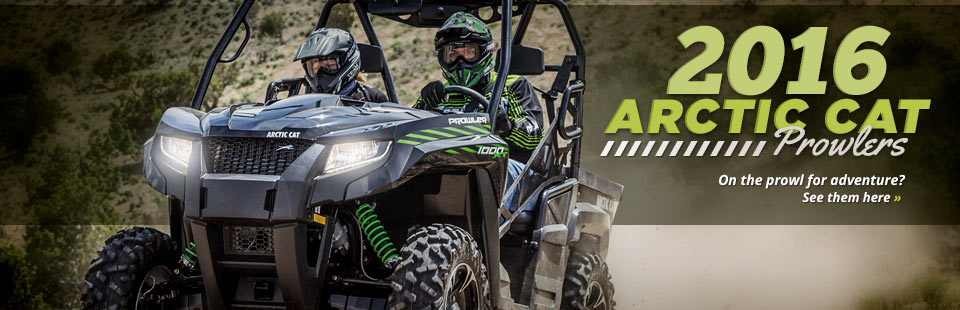 2016 Arctic Cat Prowlers: Click here to view the lineup.