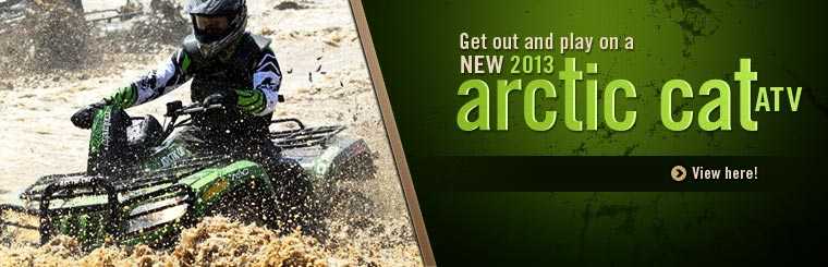 Click here to view the 2013 Arctic Cat ATVs.