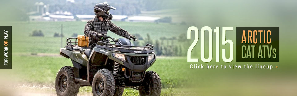 Click here to view our selection of 2015 Arctic Cat ATVs!