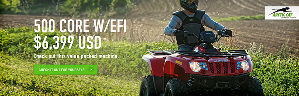 Click here to view the 2013 Arctic Cat 500 Core with EFI.