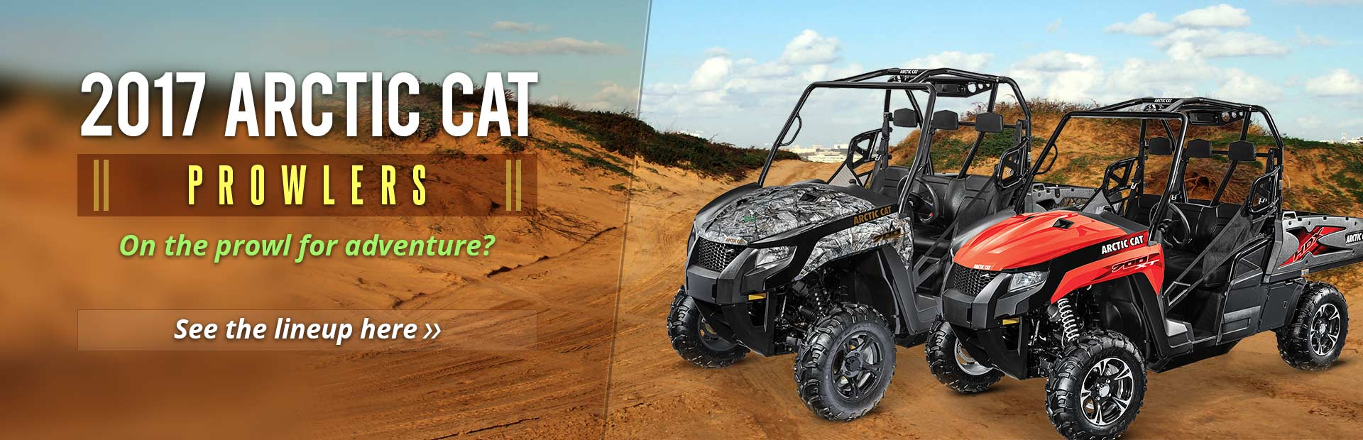 2017 Arctic Cat Prowlers: Click here to see the lineup!