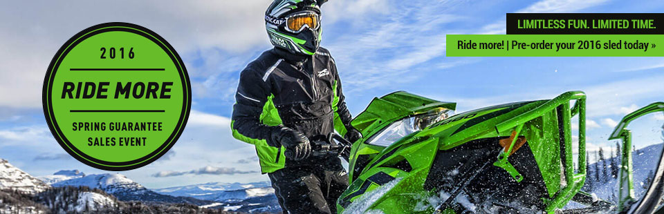 Arctic Cat Spring Guarantee Sales Event: Pre-order your 2016 sled today.