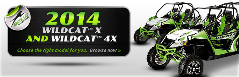 Check out the 2014 Arctic Cat Wildcat™ X and Wildcat™ 4X.