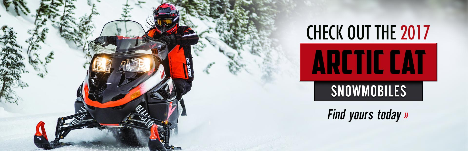 2017 Arctic Cat Snowmobiles: Click here to view the lineup.