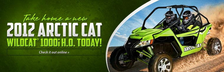 Click here to check out the new 2012 Arctic Cat Wildcat® 1000i H.O.!