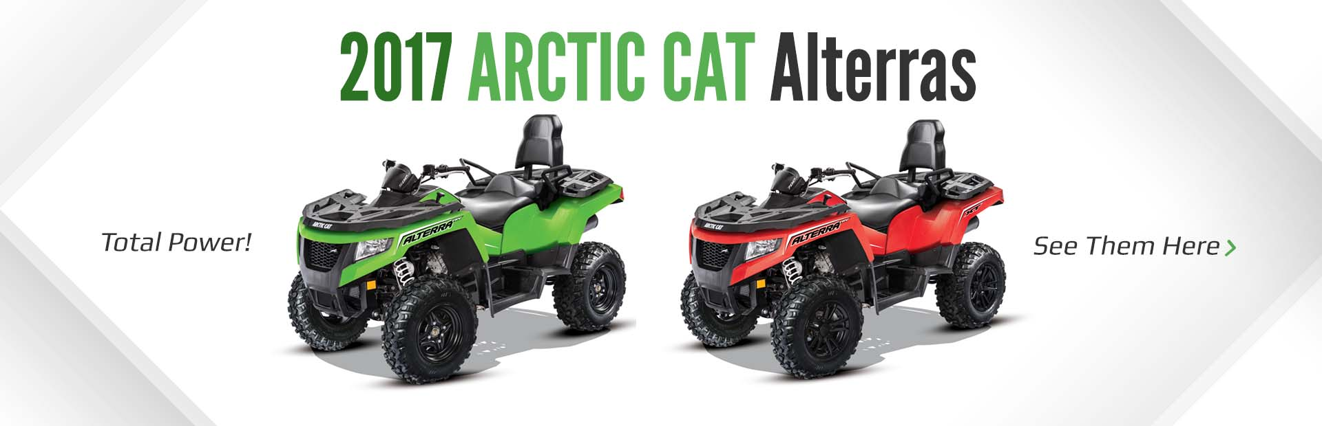 2017 Arctic Cat Alterras: Click here to view our selection!