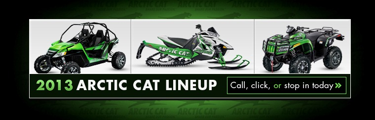 Click here to view the 2013 Arctic Cat lineup.