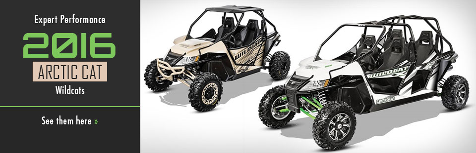 2016 Arctic Cat Wildcats: Click here to view the models.