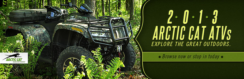 Click here to browse the 2013 Arctic Cat ATVs.