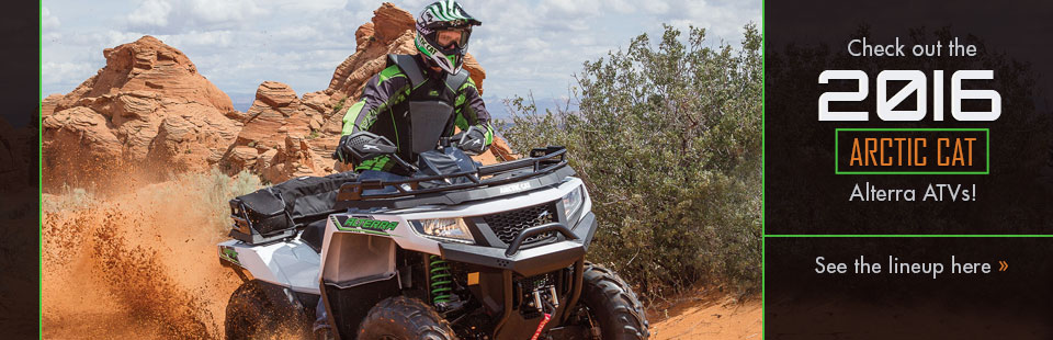 2016 Arctic Cat Alterra ATVs: Click here to view the models.