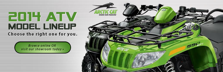 Check out the 2014 Arctic Cat ATV lineup.