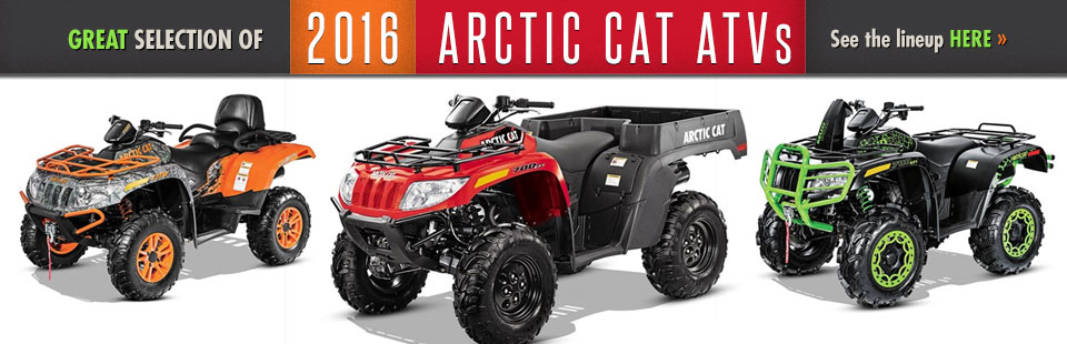 2016 Arctic Cat ATVs: Click here to view the models.