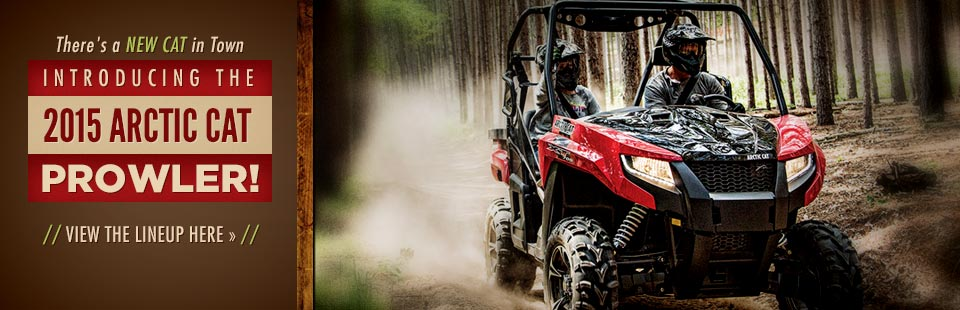 Introducing the 2015 Arctic Cat Prowler: Click here to view the lineup.