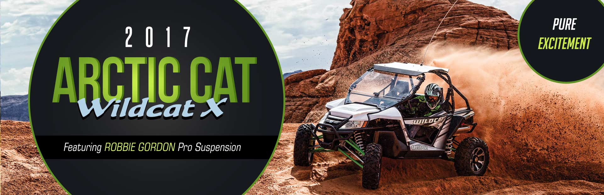 2017 Arctic Cat Wildcat X: Click here to view the models.