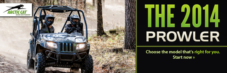 Check out the 2014 Arctic Cat Prowlers.