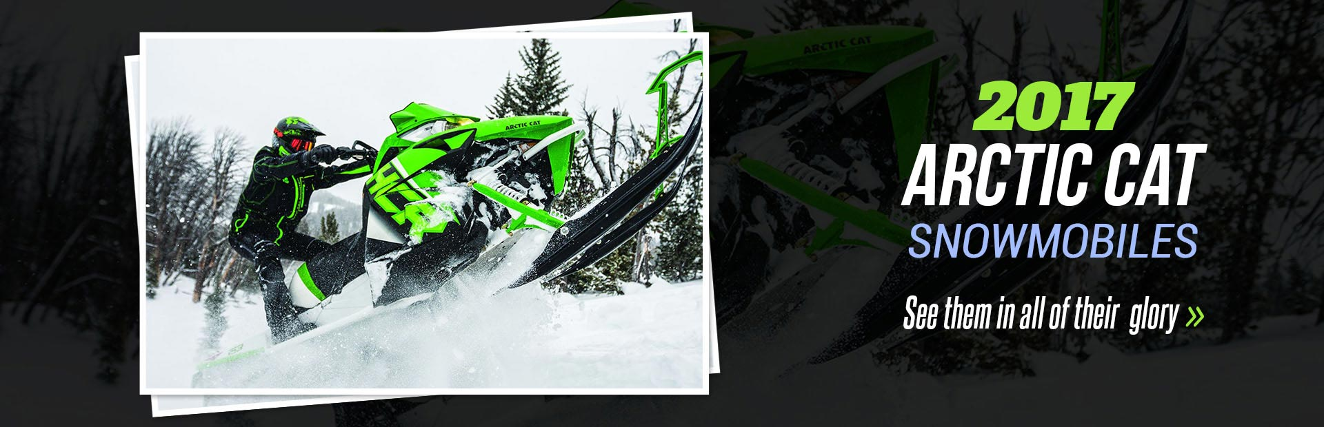 2017 Arctic Cat Snowmobiles: Click here to see them in all of their glory!