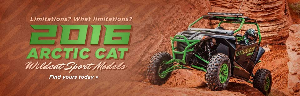 2016 Arctic Cat Wildcat Sport Models: Click here to view the lineup.