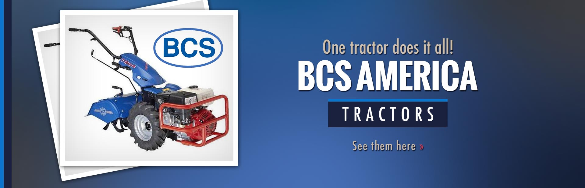 BCS America Tractors: Click here to view the showcase!