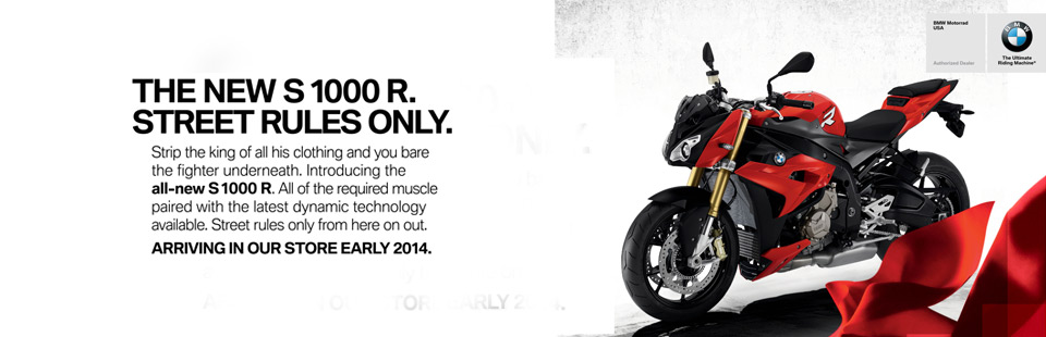 Check out the 2014 BMW S 1000 R.