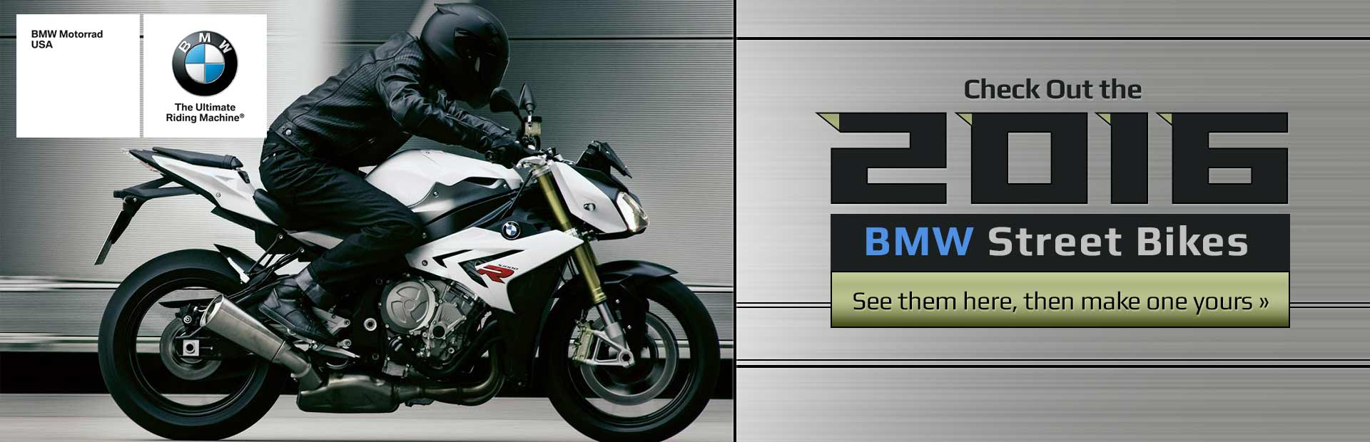 2016 BMW Street Bikes: Click here to view the models.