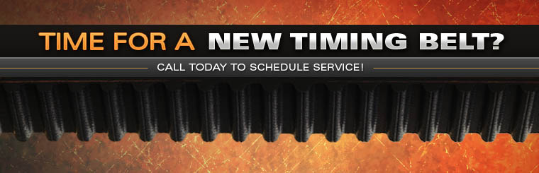 Time for a new timing belt? Call today to schedule service! Click here for more information.