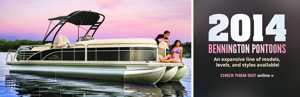 View the 2014 Bennington pontoons.