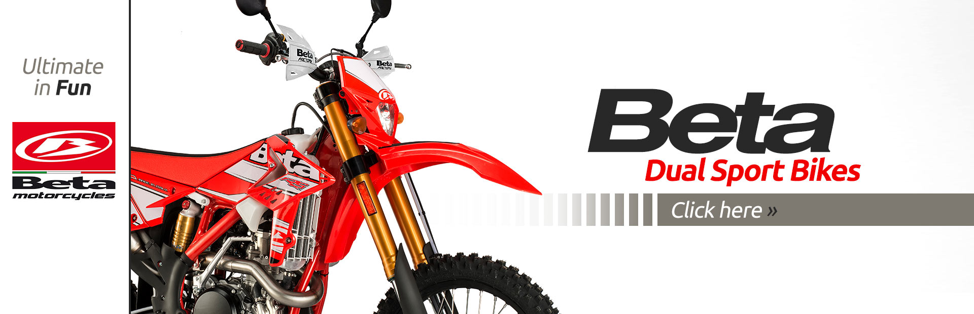 Click here to view our selection of Beta dual sport bikes!