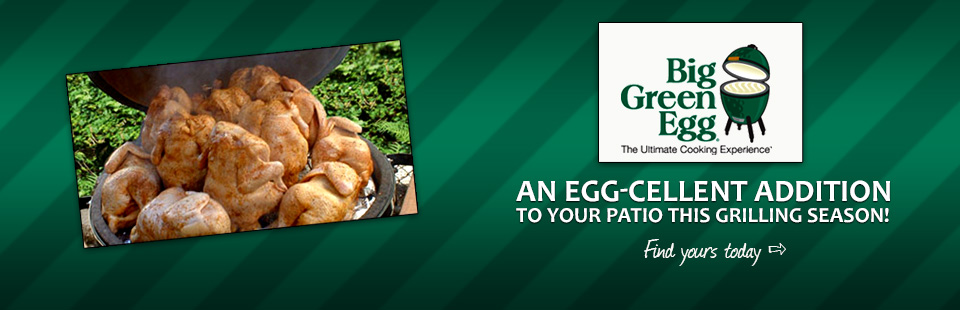 A Big Green Egg grill would be an Egg-cellent addition to your patio! Click here to find yours today.