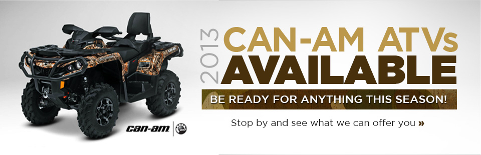 Click here to view the 2013 Can-Am ATVs.