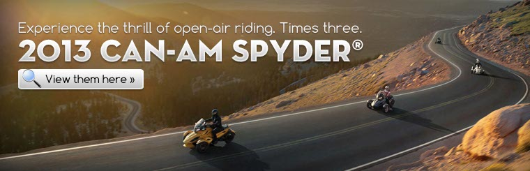 Click here to view the 2013 Can-Am Spyder®.