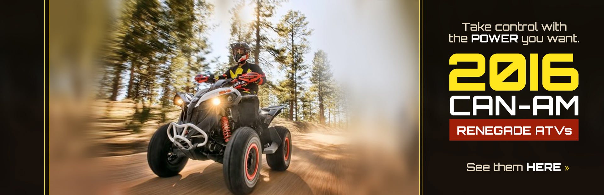 2016 Can-Am Renegade ATVs: Click here to view the models.