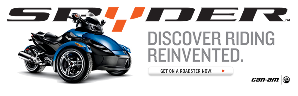 Can-Am Spyder: Discover riding reinvented. Click here to check out the roadsters.