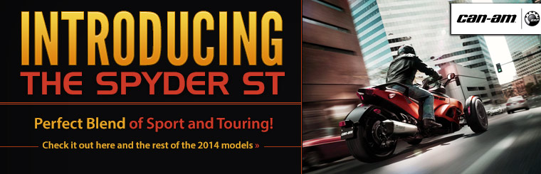 View the 2014 Can-Am Spyder ST.