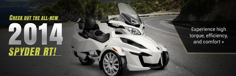 View the 2014 Can-Am Spyder RT.