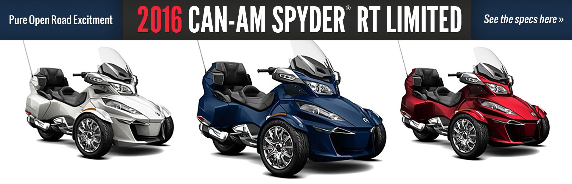 2016 Can-Am Spyder® RT Limited: Click here for details.