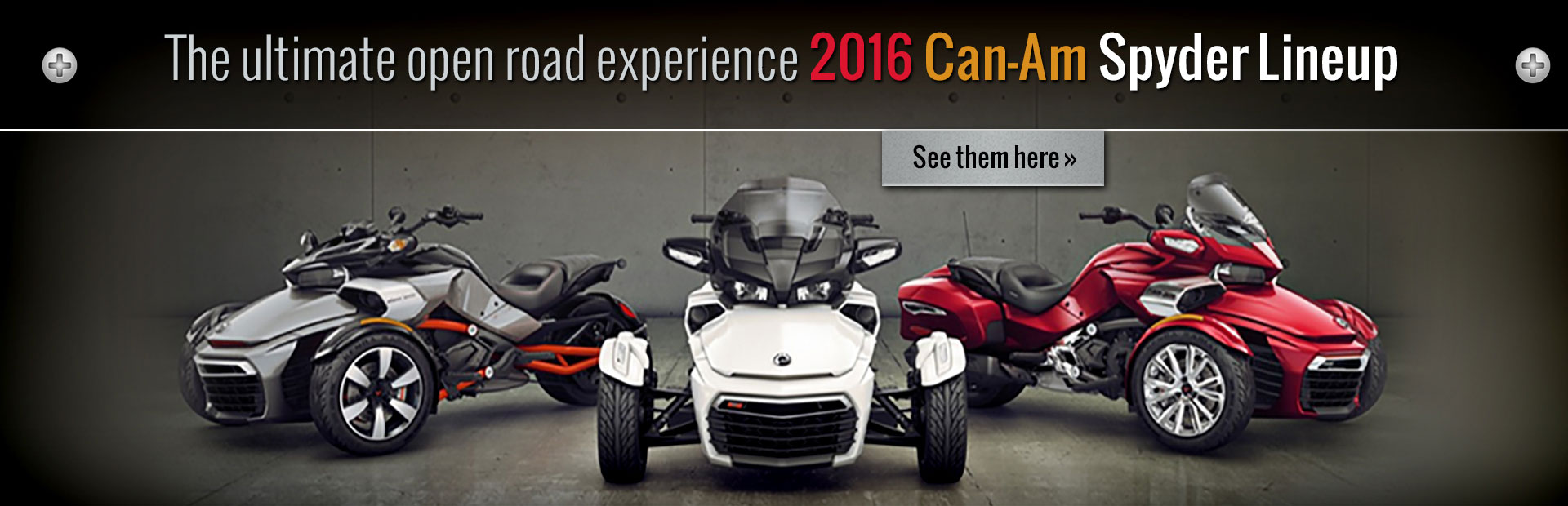 Click here to view the 2016 Can-Am Spyder lineup!