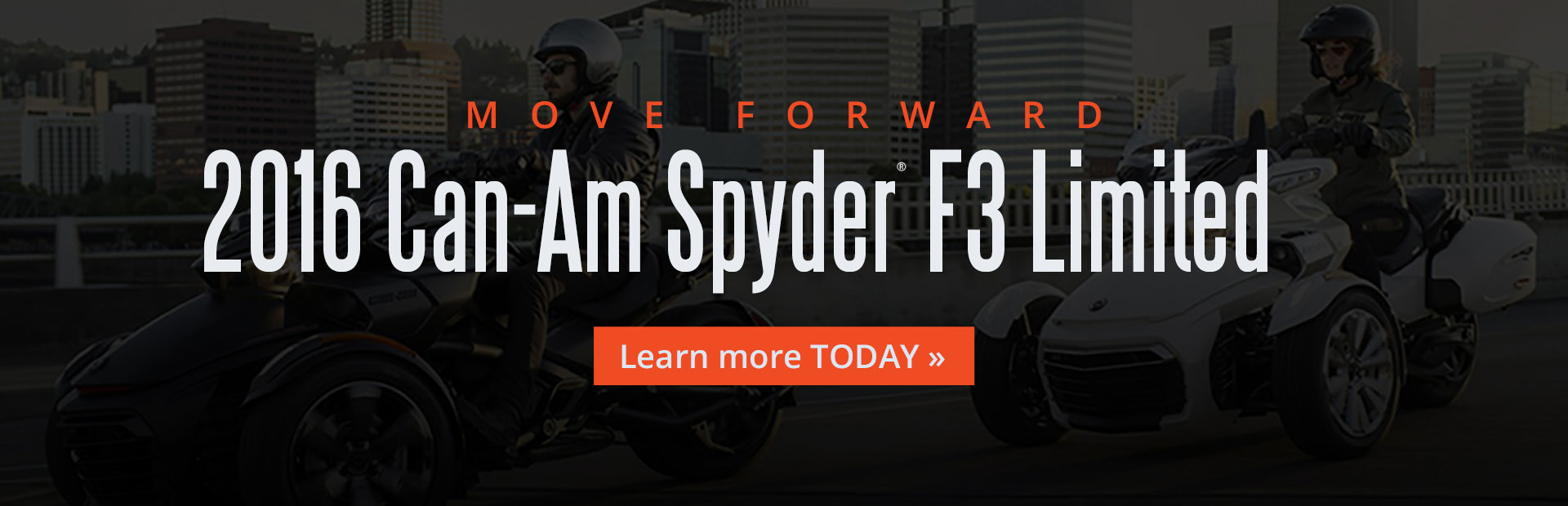 2016 Can-Am Spyder® F3 Limited: Click here for details.